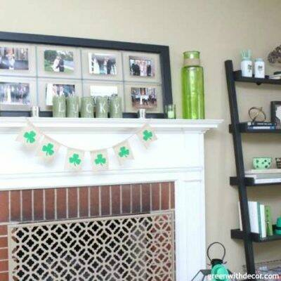 An easy St. Patrick's Day craft with old soup cans. What a clever idea! I need to start saving my soup cans.