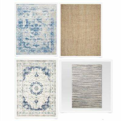 15 neutral and blue area rugs under $250