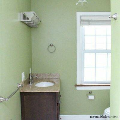 Ryegrass green painted bathroom