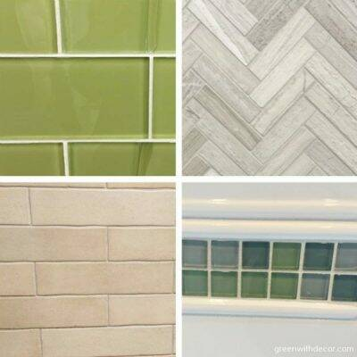 A good list of things to consider when picking tile for the kitchen backsplash and for the bathtub. Great tips!