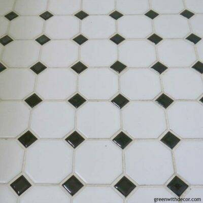 White and black tile floor