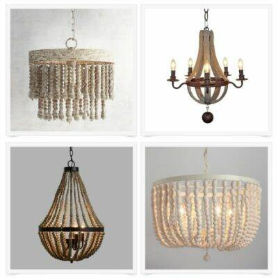 20 pretty budget-friendly wood chandeliers under $200 - such great light fixture options for the dining room or breakfast nook!