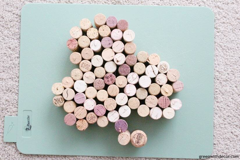 Make this easy DIY cork shamrock for St. Patrick's Day - such a cute festive craft!