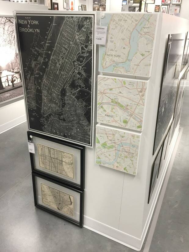 Map artwork from IKEA