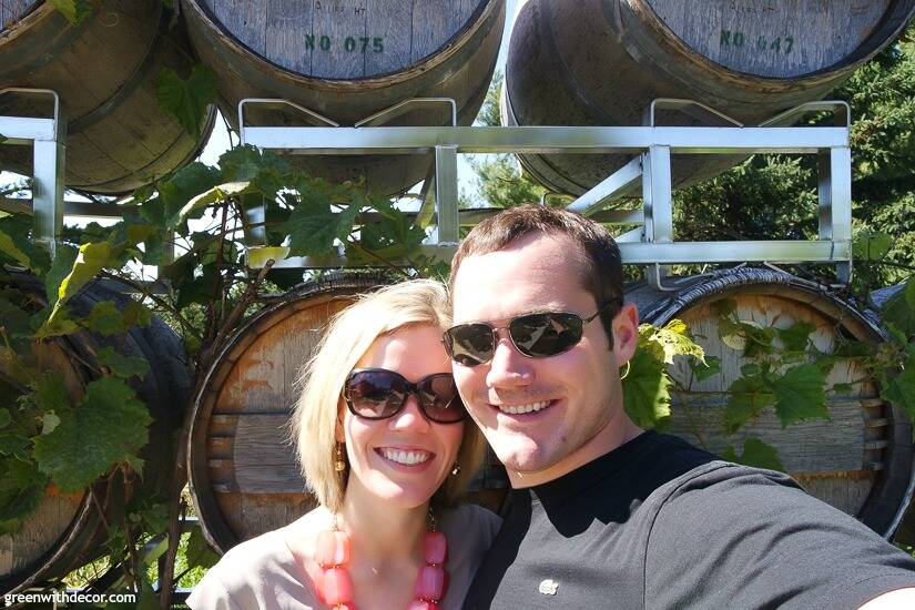 A couple at Stone's Throw Winery in Door County