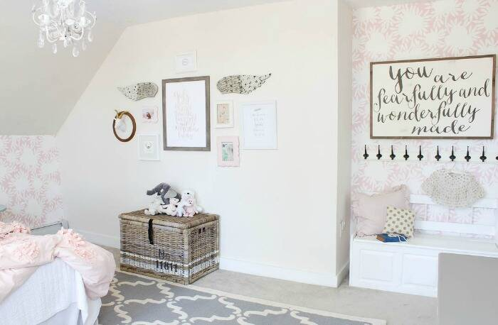 Nursery painted Opal by Benjamin Moore