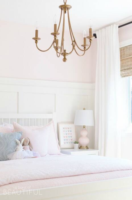 Nursery painted with Pink Bliss by Benjamin Moore
