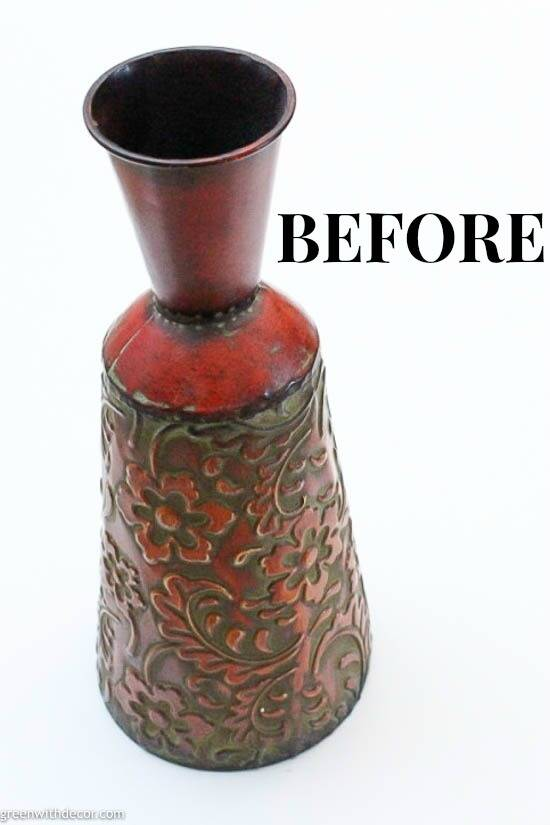 A red vase before a coat of paint