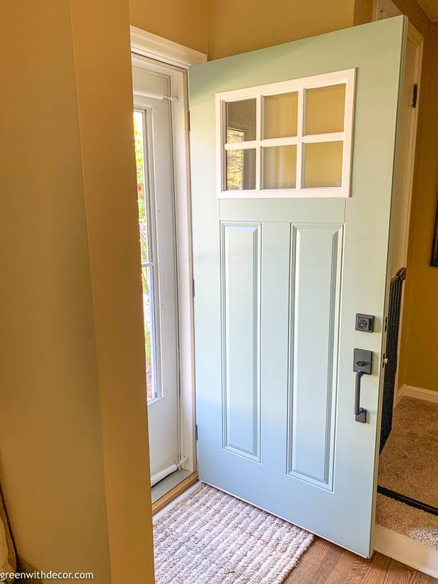 Painting an exterior door blue