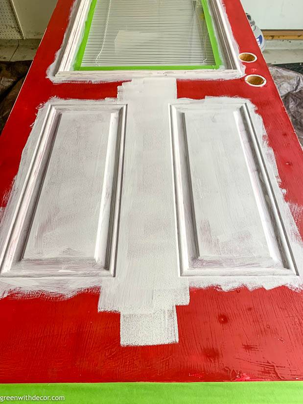 Painting an exterior door white