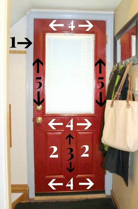 Diagram for painting an exterior door step by step