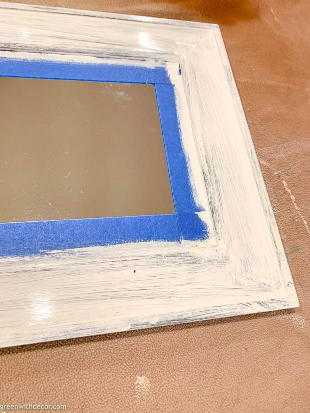 How to paint a mirror - do a coat of primer