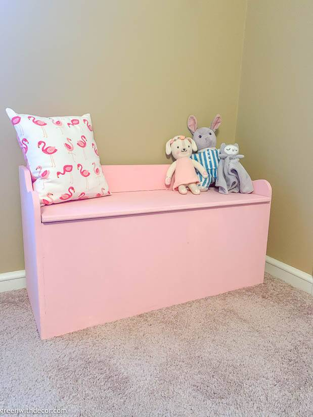 A pink bench - how to paint a bench