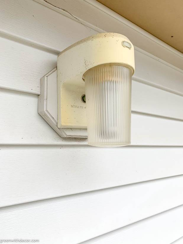 Outdated outdoor light